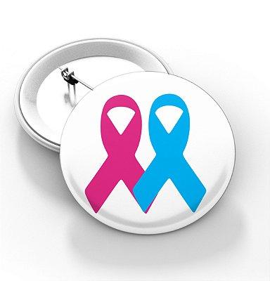 Boton outubro rosa e novembro azul - 3,8 cm - Modelo 14  - 100 Peças