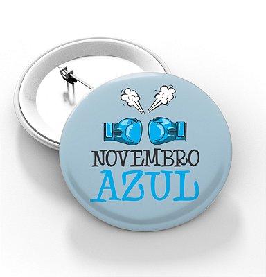 Boton Novembro azul - 3,8 cm - Modelo 29  - 100 Peças