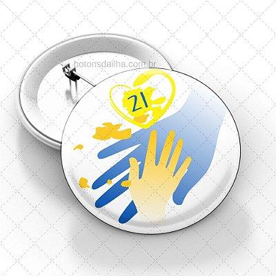 Boton Dia Internacional da Síndrome de Down - Modelo 03