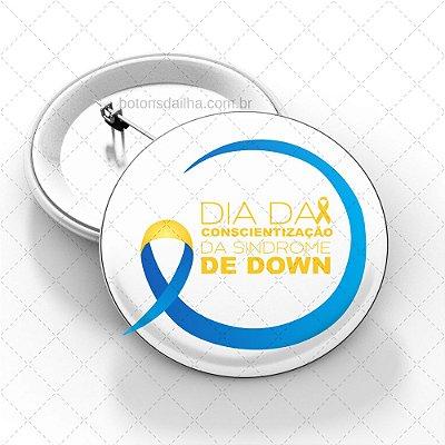 Boton Dia Internacional da Síndrome de Down - Modelo 05