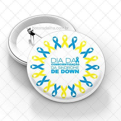 Boton Dia Internacional da Síndrome de Down - Modelo 09