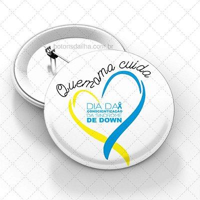 Boton Dia Internacional da Síndrome de Down - Modelo 10