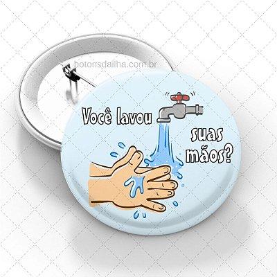 Boton Lave as mãos - Modelo 10