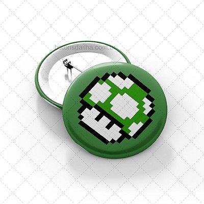 Boton Green Mario Mushroom