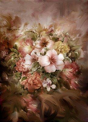 114 - flores m PINTURA ROSE2  150x220