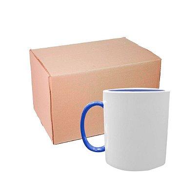 Caixa Caneca Polímero com Interior e Alça Azul