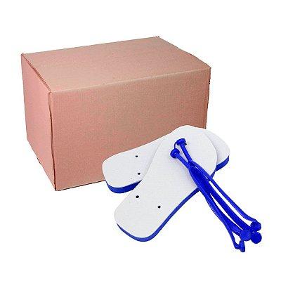 Caixa com Chinelo Azul 33/34 para Sublimação
