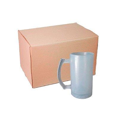 Caixa Caneca Chopp de Vidro 500 ml Fosco para Sublimação