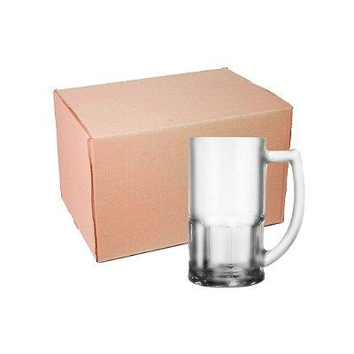 Caixa Caneca Chopp de Vidro 400 ml Fosco para Sublimação