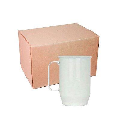 Caixa Caneca Alumínio Chopp Branca 600 ml