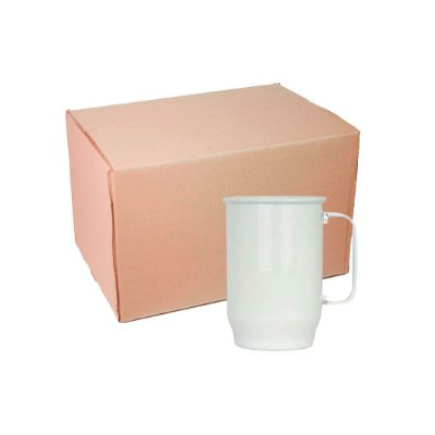 Caixa Caneca Alumínio Branca Chopp 500 ml