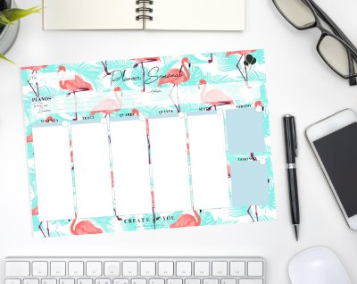 Planner Semanal - Flamingo