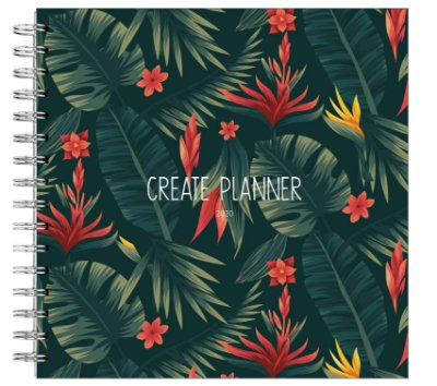 Create Planner - Floral Verde Escuro