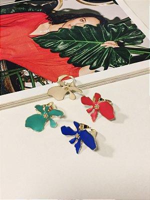 Anel Floral colorido