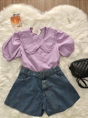 Camisa Aurora Lavanda