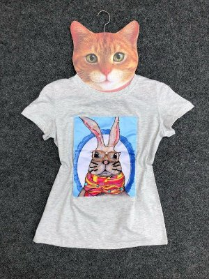 T-Shirt Coelho Cinza