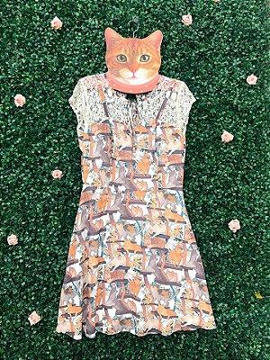 Vestido Gato Rendado