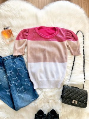 Blusa Clara Tricolor Pink