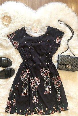 Vestido Coração Floral