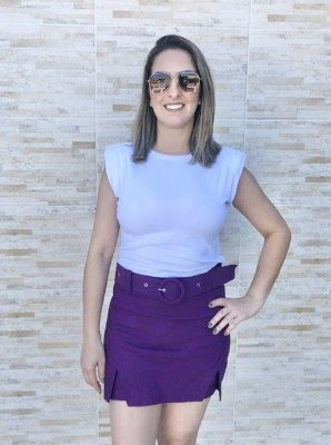 Short Saia Violeta
