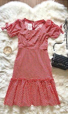 Vestido Margarida Vermelho