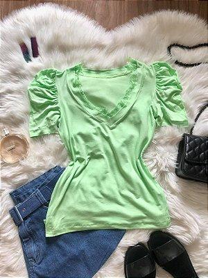 Blusa Nina Verde Neon