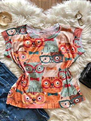 Blusa Gatinhos Colors