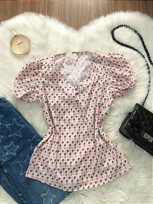 Blusa Mini Corações
