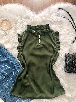 Blusa Camila Militar