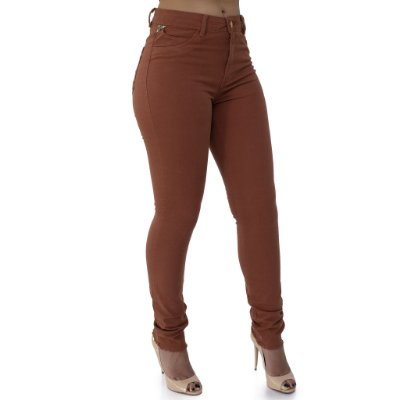 Calça Jeans Feminina Cigarret Cós Alto Up Ref. 4646