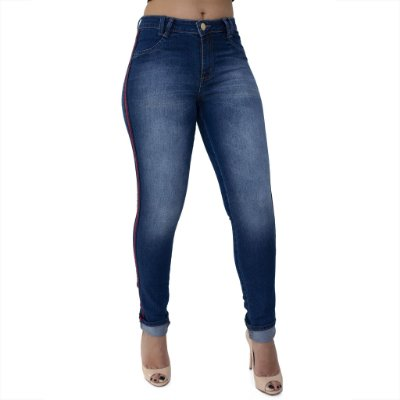 Calça Jeans Feminina Skinny Cós Alto Ref. 4645