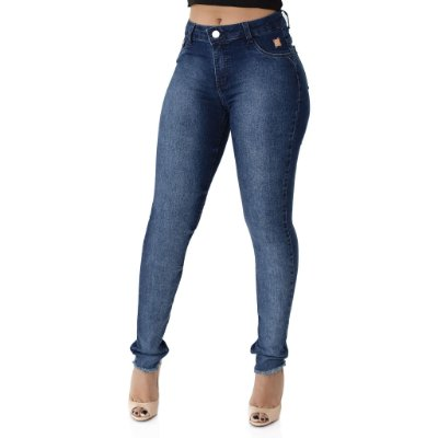 Calça Jeans Feminina Skinny Cós Médio Ref. 4709