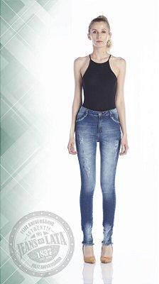 Calça Jeans Feminino Cigarret cós alto ref.4653