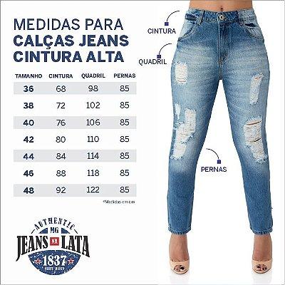 Calça Jeans Feminina Skinny Cós Alto Ref. 4721