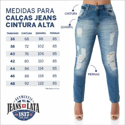 Calça Jeans Feminina Skinny Cós Alto Ref. 4716