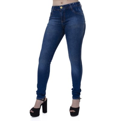 Calça Jeans Feminina Slim Ref. 4711