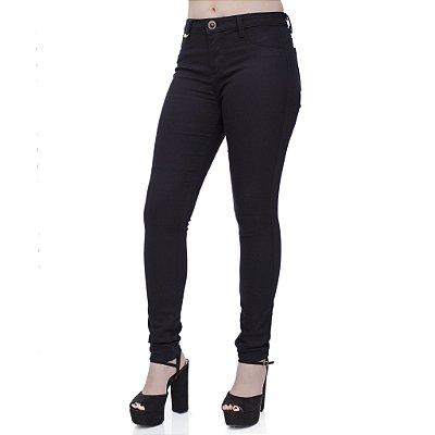 Calça Jeans Feminina Cigarret Preta Ref. 4706