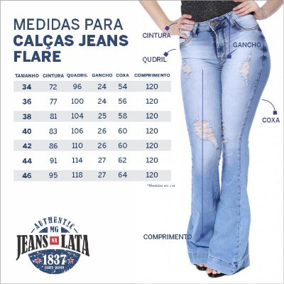 Calça Jeans Feminina Flare Ref. 4672