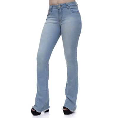 Calça Jeans Feminina Flare Ref. 4674