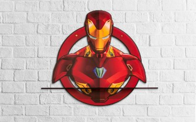 Quadro Prateleira HOMEM DE FERRO Avengers