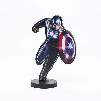 Boneco Mini Toten CAPITÃO AMÉRICA Avengers