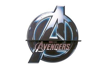 Quadro-Prateleira Avengers Logo Verde