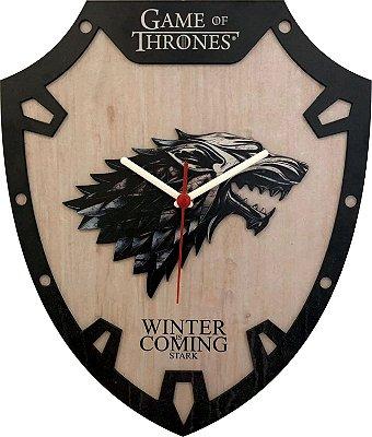 Relógio de Parede Game of Thrones HOUSE STARK