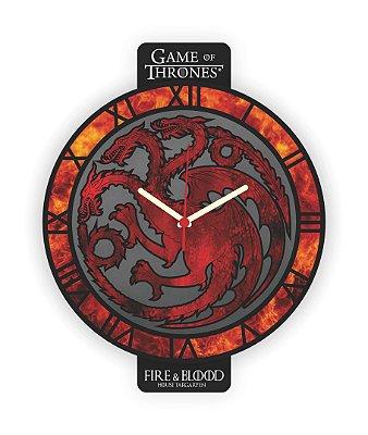 Relógio de Parede Game of Thrones HOUSE TARGARYEN