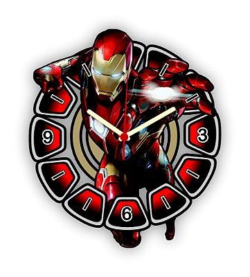 Relógio de Parede Avengers Homem de Ferro 2