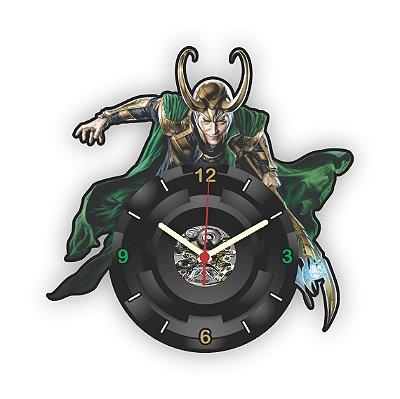 Relógio de Parede Avengers Loki