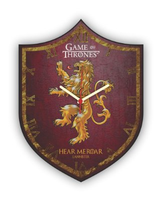 Relógio de Parede Game of Thrones HOUSE LANNISTER