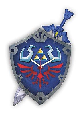 Relógio de Parede ZELDA Escudo Espada