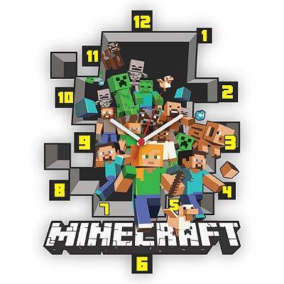 Relógio de Parede Minecraft
