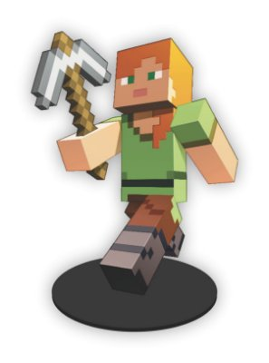 Boneco Mini Toten ALEX Minecraft